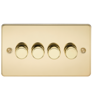 ML Accessories Flat Plate 4G 2 Way 40-400W Dimmer (Polished Brass)
