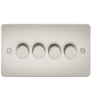 ML Accessories Flat Plate 4G 2 Way 40-400W Dimmer (Pearl)