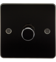 ML ACCESSORIES Flat Plate 1G 2 Way 10-200W Dimmer - (Gunmetal)