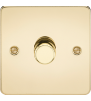 ML ACCESSORIES Flat Plate 1G 2 Way 10-200W Dimmer - Polished Brass