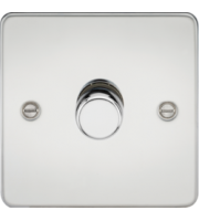 ML ACCESSORIES Flat Plate 1G 2 Way 10-200W Dimmer - Polished Chrome