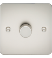 ML ACCESSORIES Flat Plate 1G 2 Way 10-200W Dimmer - Pearl