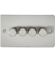 ML ACCESSORIES Flat Plate 4G 2 Way 10-200W Dimmer - Brushed Chrome