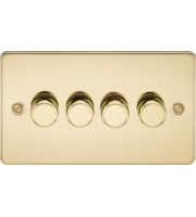 ML ACCESSORIES Flat Plate 4G 2 Way 10-200W Dimmer - Polished Brass