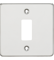 ML ACCESSORIES Flat Plate 1G Grid Faceplate - Polished Chrome