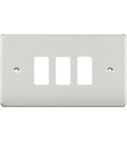 ML ACCESSORIES Flat Plate 3G Grid Faceplate - Brushed Chrome