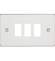 Knightsbridge Flat plate 3G grid faceplate (Chrome)