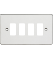 ML ACCESSORIES Flat Plate 4G Grid Faceplate - Polished Chrome