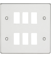 ML ACCESSORIES Flat Plate 6G Grid Faceplate - Polished Chrome