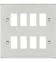 ML ACCESSORIES Flat Plate 8G Grid Faceplate - Brushed Chrome