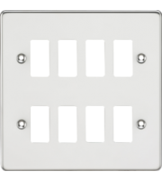 ML ACCESSORIES Flat Plate 8G Grid Faceplate - Polished Chrome