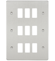 ML ACCESSORIES Flat Plate 9G Grid Faceplate - Brushed Chrome