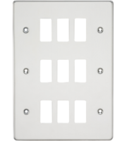 ML ACCESSORIES Flat Plate 9G Grid Faceplate - Polished Chrome