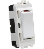 Knightsbridge 20AX DP module with LED indicator (White)