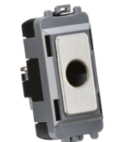 Knightsbridge Flex outlet module  (up to 10mm) (Brushed Chrome)