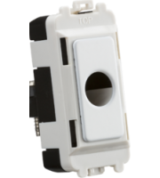 Knightsbridge Flex outlet module  (up to 10mm) (White)