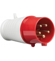 ML Accessories 415V IP44 32A Plug 3P+N+E X 10 Pack (Red/White)