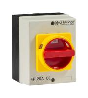 Knightsbridge 20A Rotary Isolator 4P AC (230V-415V)