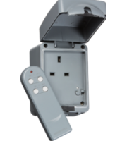 ML ACCESSORIES IP66 13A 1G Remote Controlled Socket,Outdoor