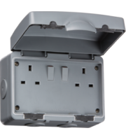 ML ACCESSORIES IP66 13A 2G Dp Switched Socket