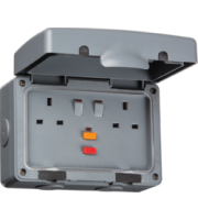 ML ACCESSORIES IP66 13A Rcd 2G Switched Socket