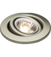 ML ACCESSORIES Pack of 3 X GU10 50W Tilt Downlights - (Brushed Chrome)