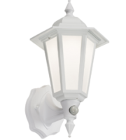 ML ACCESSORIES 230V IP54 Led Wall Lantern With Pir - White