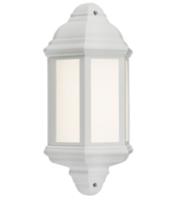 Knightsbridge LED Half Wall Lantern (White)