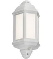 Knightsbridge LED Half Wall Lantern with PIR (White)
