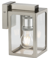 Knightsbridge IP23 E27 Wall Lantern (Chrome)