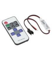 ML ACCESSORIES 12V / 24V In-line Rf Controller And Remote - Dimmer Single Colour