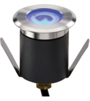ML ACCESSORIES 230V IP65 1W High Output Led (Blue) Mini Ground Light Comes With Cable. Non-dimmable