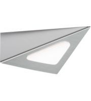 ML ACCESSORIES 12V Dc 3W Led Triangular Cabinet Light - (Satin Chrome)