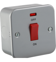 ML ACCESSORIES Metal Clad 45A Dp Switch With Neon - Single Size