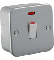 ML ACCESSORIES Metal Clad 20A 1G Dp Switch With Neon