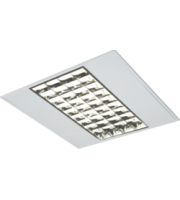 ML ACCESSORIES IP20 4x14W T5 Modular Fitting With Double Parabolic Louvres 595x595x55mm