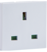 ML ACCESSORIES 13A 1G (White) Unswitched Modular Socket (50x50mm)