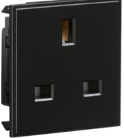 ML ACCESSORIES 13A 1G (Black) Unswitched Modular Socket
