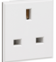 ML ACCESSORIES 13A 1G (White) Unswitched Modular Socket