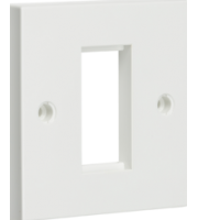 ML ACCESSORIES 1G White Modular Faceplate