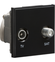 ML ACCESSORIES (Black) Modular Diplexed Tv /sat Tv Outlet