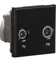 ML ACCESSORIES (Black) Modular Diplexed Tv /fm Dab Outlet