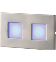 ML ACCESSORIES S/s Recessed Led Wall Light - (Twin Blue)