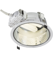 ML ACCESSORIES Recessed 230mm Single Pl Downlight 1x18W (cut Out 205mm) With Gearbox And Ballast And 200mm Flex