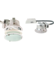 ML ACCESSORIES Recessed 225mm Twin Pl Downlight 2x26W (cut Out 205mm) With Gearbox And Ballast And 200mm Flex