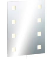 ML ACCESSORIES IP44 Rectangular Mirror With Demister And Dual Voltage Shaver Socket