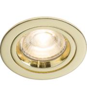 Knightsbridge  (Brass) Recessed Fixed Twist & Lock Downlight (Brass)