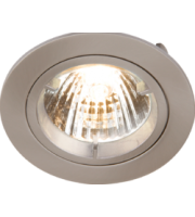 ML ACCESSORIES IP20 230V/12V GU10/MR16 (Brushed Chrome) Recessed Fixed Twist & Lock Downlight