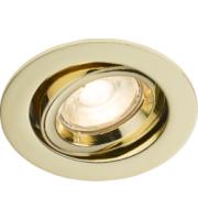 Knightsbridge  (Brass) Recessed Tilt Twist & Lock Downlight (Brass)