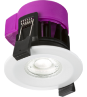 ML ACCESSORIES 230V IP65 6W Fire-rated Led Cct Change Downlight (White)
